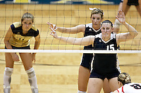 SAN ANTONIO, TX - NOVEMBER 9, 2007: The St. Edward's University Hilltoppers compete during Day 1 of the Heartland Conference Women's Volleyball tournament held at Bill Greehey Arena on the campus of St. Mary's University. (Photo by Jeff Huehn)