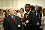El Presidente mundial de Merk-Farmaceutica mantiene un cara a cara con los empleados de la empresa en Madrid.(ALTERPHOTOS/Acero).