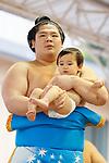 Ura, <br /> APRIL 17, 2017 - Sumo : Yasukuni Shrine Honozumo is a ceremonial annual sumo tournament held in the precincts of the Yasukuni Shrine in Tokyo, Japan. (Photo by Yohei Osada/AFLO SPORT)