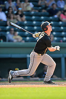 First baseman Brett Hash (27) of the Wofford Terriers in a SoCon Tournament game against Western Carolina on Wednesday, May 25, 2016, at Fluor Field at the West End in Greenville, South Carolina. Western won, 10-9. (Tom Priddy/Four Seam Images)
