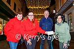Killarney NO NAme presented the proceeds of their virtual Nathan's Walk to Pieta House in Killarney on Friday l-r: Ann Marie Nagle, Samantha Nagle, Cathal Walsh and