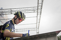 Adam Yates (GBR/Orica-Scott) signing on<br /> <br /> 98th Milano - Torino 2017 (ITA) 186km