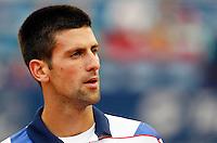 Tenis, Serbia Open 2011.Final.Novak Djokovic (SRB) Vs. Feliciano Lopez (ESP).Novak Djokovic, look at.Beograd, 01.05.2011..foto: Srdjan Stevanovic