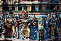 Indien, Madurai (Tamil Nadu), Fassade des Sri Meenakshi Tempel