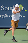 August  14, 2019:  Miomir Kecmanovic (SRB) defeated Alexander Zverev (GER) 6-7, 6-2, 6-4, at the Western & Southern Open being played at Lindner Family Tennis Center in Mason, Ohio. ©Leslie Billman/Tennisclix/CSM