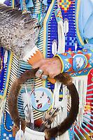 Seneca Native American Indian hand, in full Regalia, New Jersey