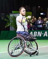 Rotterdam, The Netherlands, 14 Februari 2019, ABNAMRO World Tennis Tournament, Ahoy, Wheelchair final doubles, Nicolas Peifer(FRA),<br /> Photo: www.tennisimages.com/Henk Koster