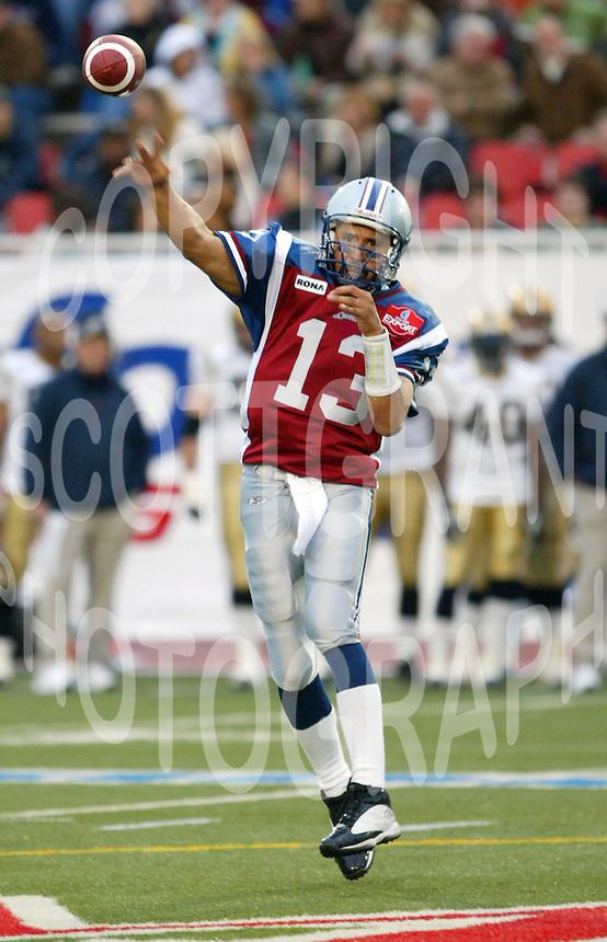 Anthony Calvillo Montreal Alouettes. Photo F. Scott Grant