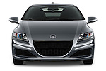 Straight front view of a 2013 Honda CR-Z Hybrid Hatchback.
