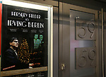 Theatre Marquee for the Opening Night of 'Hershey Felder As Irving Berlin' on September 5, 2018 at the 59E59 Theatre in New York City.