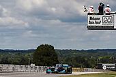 #10: Felix Rosenqvist, Chip Ganassi Racing Honda takes the checkered flag