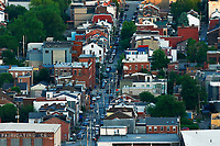 A view down 38th Street in the Lawrenceville neighborhood on Thursday May 28, 2020 in Pittsburgh, Pennsylvania. (Photo by Jared Wickerham/Pittsburgh City Paper)