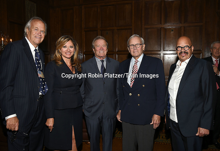 honorees  Dick Ebersol, Maria Bartiromo, Steve Kroft and Tom Brokaw & Tom Joyner attend the Library of American Broadcasting  Annual Giants of Broadcasting Luncheon on October 6, 2016 at Gotham Hall in New York City. <br /> <br /> photo by Robin Platzer/Twin Images<br />  <br /> phone number 212-935-0770