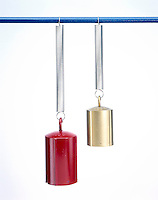 HOOKES' LAW: SPRINGS STRESSED BY DIFFERENT WEIGHTS<br /> Comparison of 1000g to 100g Weights (3 of 3)<br /> Hooke's law states that the stress upon a body is directly proportional to the strain, provided that the elastic limit has not been exceeded. The 100g weight barely extends the spring & the 1000g weight almost doubles the extension.