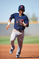 Cleveland Indians Miguel Jerez (2) during an Instructional League game against the Kansas City Royals on October 11, 2016 at the Cleveland Indians Player Development Complex in Goodyear, Arizona.  (Mike Janes/Four Seam Images)
