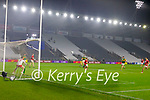 David Clifford, Kerry has a shot at goal during the Munster GAA Football Senior Championship Semi-Final match between Cork and Kerry at Páirc Uí Chaoimh in Cork.