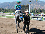 Oct. 1, 2011.Creative Cause ridden by joel Rosario,heading for the winners circle after winning the Norfolk Stakes at Santa Anita Park, Arcadia, CA