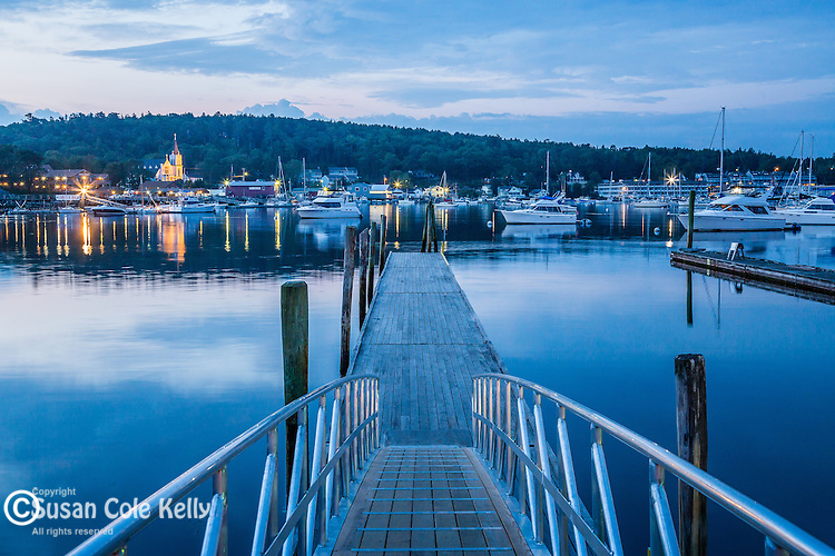 Harbor scene in Boothbay Harbor, Maine, USA