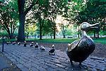 N.A., USA, Massachussetts, Boston, Public Garden, Make Way for Ducklings