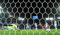 6th August 2020, Basel, Switzerland. UEFA National League football, Switzerland versus Germany;  Silvan Widmer (sui) shoots and scores past keeper Bernd Leno (Germ) for 1-1