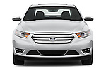 Straight front view of a 2017 Ford Taurus LTD