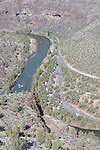 Campground along the Crooked River below Prineville Reservoir, Oregon.