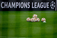 Adidas official balls of the match are seen in front of a banner during the Uefa Champions League group B football match between AC Milan and Atletico Madrid at San Siro stadium in Milano (Italy), September 28th, 2021. Photo Andrea Staccioli / Insidefoto