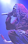 Slipknot performs live at the Forum in Inglewood, CA.