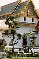 Thaïlande/Bangkok: Grand Palais - Jardin de la salle du trône