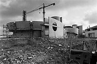 - reconstruction in Irpinia after the earthquake of 1980, the new church in Bisaccia Village....- ricostruzione in Irpinia dopo il terremoto del 1980, la nuova chiesa nel paese di Bisaccia
