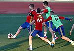 Spain's Asier Illarramendi, Cesar Azpilicueta, Ander Herrera and Iago Aspas during training session. March 20,2017.(ALTERPHOTOS/Acero)