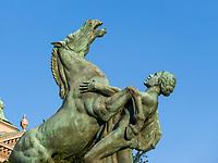 Reiterstatue vor Parlament, Belgrad, Serbien, Europa<br /> equestrian statue at parliament, Belgrade, Serbia, Europe