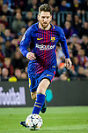 Lionel Andres Messi of FC Barcelona in action during the UEFA Champions League 2017-18 quarter-finals (1st leg) match between FC Barcelona and AS Roma at Camp Nou on 05 April 2018 in Barcelona, Spain. Photo by Vicens Gimenez / Power Sport Images