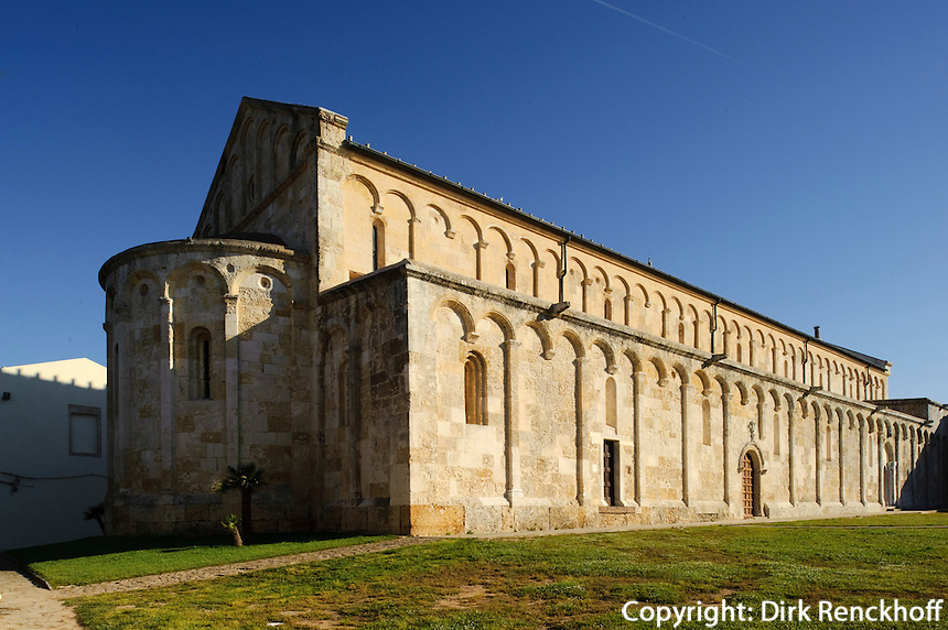 romanische Kirche Basilica di San Gavino in Porto Torres (11.Jh.), Provinz Sassari, Nord - Sardinien, Italien