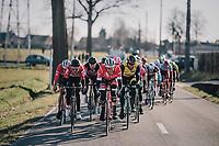 Jasper Stuyven (BEL/Trek-Segafredo) leading the way<br /> <br /> 70th Kuurne-Brussel-Kuurne 2018<br /> Kuurne › Kuurne: 200km (BELGIUM)