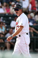 June 15th 2008:  Juan Bustabad of the Great Lakes Loons, Class-affiliate of the Los Angeles Dodgers, during a game at Dow Diamond in Midland, MI.  Photo by:  Mike Janes/Four Seam Images