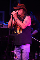 BOCA RATON - FEBRUARY 26: Jimmy Elkins of Molly Hatchet performs at The Funky Biscuit on February 26, 2021 in Boca Raton, Florida. Credit: mpi04/MediaPunch
