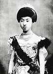 Undated - Empress Teimei (1884-1951) also known as Empress Dowager Teimei was empress consort of Emperor Taisho of Japan. She was born Sadako Kujo and married with Crown Prince Yoshihito (the future Emperor Taisho on 25 May 1900. she gave birth to a son, prince Hirohito (the future Emperor Showa) in 1901, she was the first official wife of a Crown Prince or Emperor to have given birth to the official heir to the throne since 1750. (Photo by Kingendai Photo Library/AFLO)