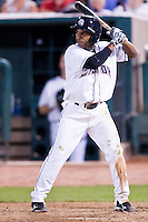 August 7,2010 Jonahtan Herrera (11) in action during the MiLB game between the New Orleans Zephyrs and the Colorado Springs Sky Sox at Security Service Field in Colorado Springs Colorado.