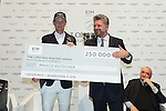 Marco Kutscher riding Van Gogh, Kevin Staut riding For Joy van't Zorgvliet HDC and Emanuele Gaudiano riding Caspar 232 attend a press conference after Kutscher,s victory  at the Longines Grand Prix, part of the Longines Masters of Hong Kong on 21 February 2016 at the Asia World Expo in Hong Kong, China. Photo by Li Man Yuen / Power Sport Images