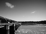 """Mekong Dam Victims - Thailand. The Pak Mun dam with open gates. The building of the Pak Mun Dam in Thailand has lead to strong opposition by the local population as the number of fish and fish species in the river is dramatically reduced because of the dam, affecting more than 20,000 people. Known as """"The Mother of Waters"""", more than 60 million people depend on the Mekong river and its tributaries for food, fresh water, transport and other aspects of daily life. The construction of big dams is now threatening the life of these people aswell as the vital and unique ecosystem of the river."""