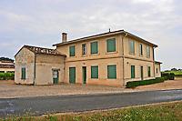 The back side of Chateau La Fleur Saint Jean Pomerol Bordeaux Gironde Aquitaine France