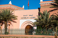 Zagora, Morocco.  Tifinagh (Berber) and Arabic Script over Entrance to the Court.