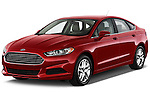 Front three quarter view of a .2013 Ford Fusion SE