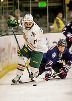 20 January 2017: University of Vermont Catamount Forward Craig Puffer, a Sophomore from New Canaan, CT, in first period action against the University of Connecticut Huskies at Gutterson Fieldhouse in Burlington, Vermont. The Catamounts held onto their lead throughout the game to defeat the Huskies 5-4 in Hockey East play. Mandatory Credit: Ed Wolfstein Photo *** RAW (NEF) Image File Available ***