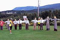 Joe's Scarecrows, Cap le Moine, Cape Breton Island, Nova Scotia, NS, Canada - Tourist Attraction along Cabot Trail