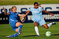 Rosana (11) of Sky Blue FC passes the ball. Sky Blue FC defeated the Boston Breakers 2-1 during a Women's Professional Soccer match at Yurcak Field in Piscataway, NJ, on May 31, 2009.