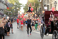 Montreal,  CANADA - 2014  File Photo - Completement cirque outdoor circus festival.<br /> <br /> Agence Quebec Presse - Pierre Roussel