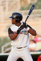 Kenny Gilbert #26 of the Kannapolis Intimidators at bat against the Greenville Drive at Fieldcrest Cannon Stadium on May 8, 2011 in Kannapolis, North Carolina.   Photo by Brian Westerholt / Four Seam Images