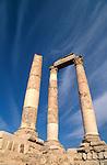 Jordan, Amman. Ruins from the Roman period on Citadel Hill&#xA;<br />
